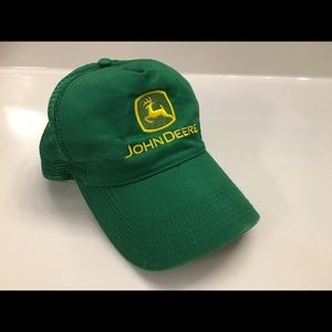 John Deere Green Snapback Hat Trucker Cap Mesh